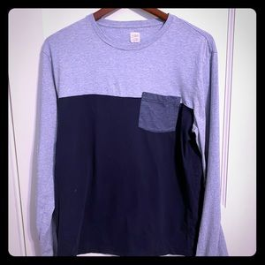 Lot of 5 Mens LS T-shirts, Medium. GAP & J. CREW